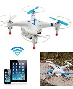 BlueBeach-Quadcopter-CX30W-4-canaux-3D-Gyro-UFO-Drone-avec-WIFI-Camra-Compatible-avec-IOS-seulement-Bleu-0