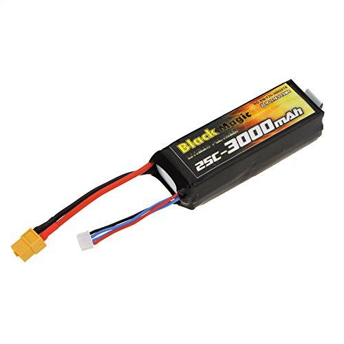 GoolRC-Black-Magic-Upgrade-Lipo-Batterie-3000mah-111V-25C-XT60-Enfichable-pour-Roue-Flamme-DJI-Phantom-1-FC40-DJI-F450-F550-FPV-Quadcopter-0