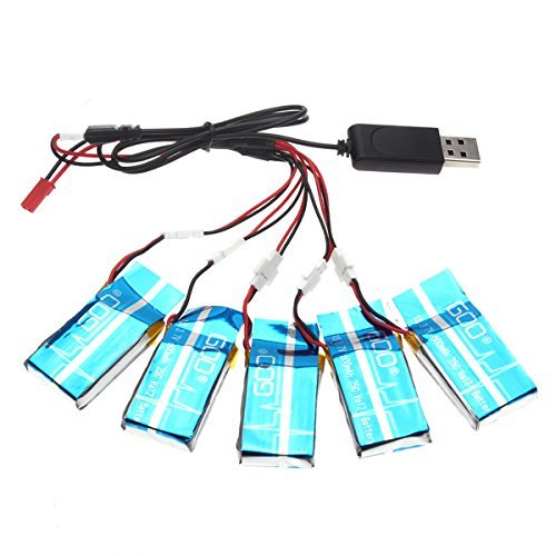 5 batteries 3 7v 600mah pour drone syma x5c et x5a drone pas cher. Black Bedroom Furniture Sets. Home Design Ideas