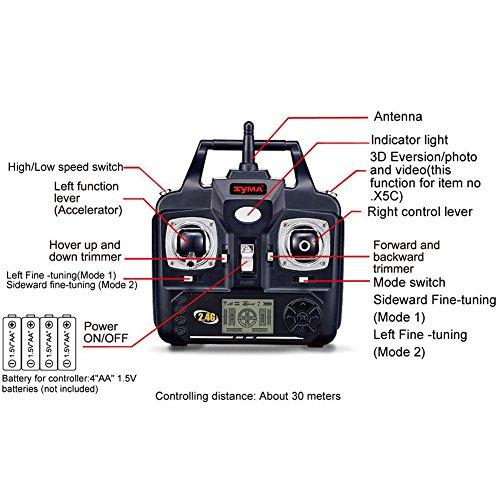 Drone Syma X5C Explorers avec Caméra HD RTF