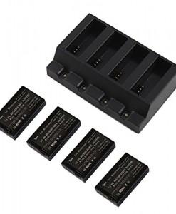 Tera-Kit-de-chargement-4Batterie-rechargeable-600-mAh-37-V-en-lithium-ion-Chargeur-pour-4-batteries-pour-Parrot-MiniDrones-Rolling-SpiderJumping-Sumo-0