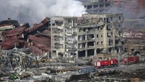 Explosion en Chine filmée par un drone
