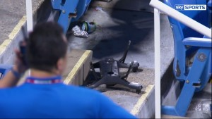 Accident de drone à l'US Open