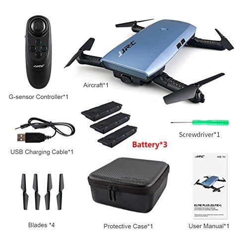 RC-Drone-Quadcopter-Hlicoptre-JjrC-Jjrc-H47-Elfie-Plus-avec-camra-HD-des-pliable-Bras-de-gyroscope-6-axes-diffrents-batterie-pour-choisir-0