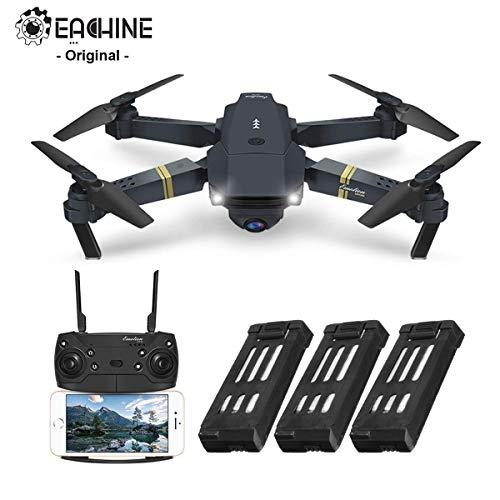 EACHINE-E58-Drone-Pliable-Quadcopter-Drone-avec-camra-720P-HD-FPV-WiFi-Drone-avec-Camera-20MP-Forfait-de-3-Batteries-0